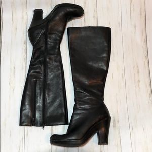 Aerosoles tall black leather boot